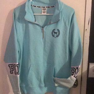 Victoria secret PINK zip up pullover; size Medium